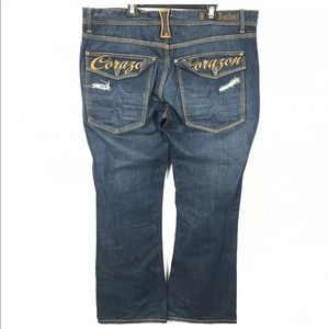 Blac Label Goods Jeans Distressed Flap Pockets